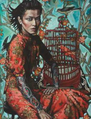Chinese Woman and Birdcage (2011)