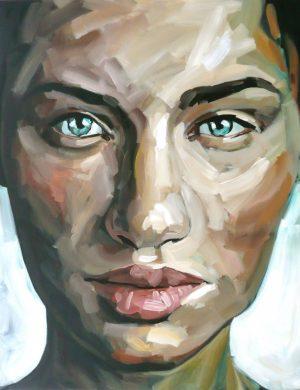 Face I (2008) 162 x 130 cm