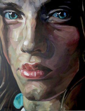 Face V (2008) 162 x 130 cm