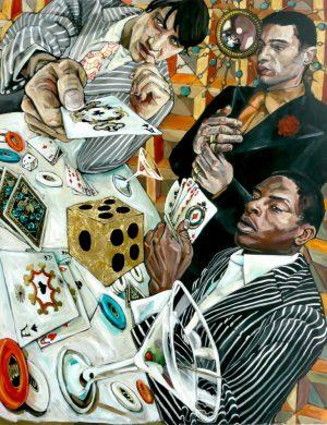 Gamblers (2008) 162 x 130 cm