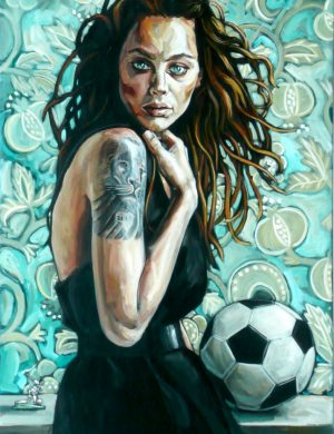 Woman With Football (2009)