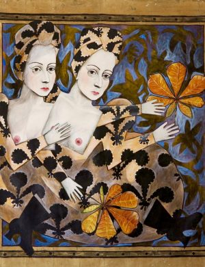 Woman With Leaf (1989) 136 x 146 cm