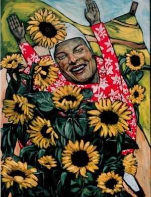 Woman With Sunflowers (1997)