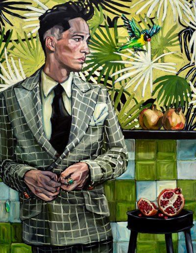 Pomegranate Man (2017) Oil on Canvas