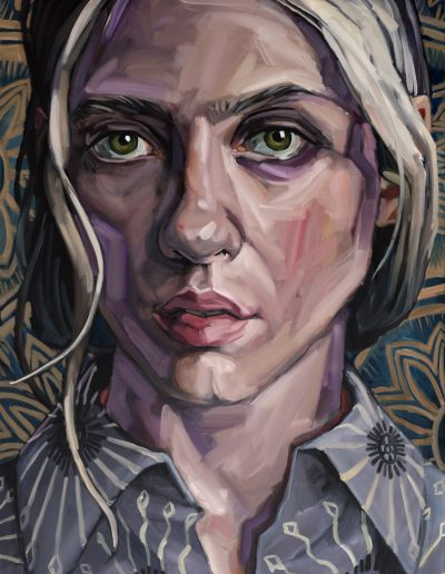 Renaissance Face (2017) Oil on Canvas
