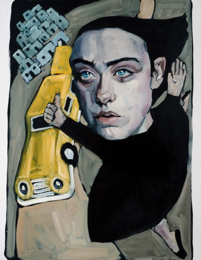 Yellow Taxi (2018) Oil on Paper
