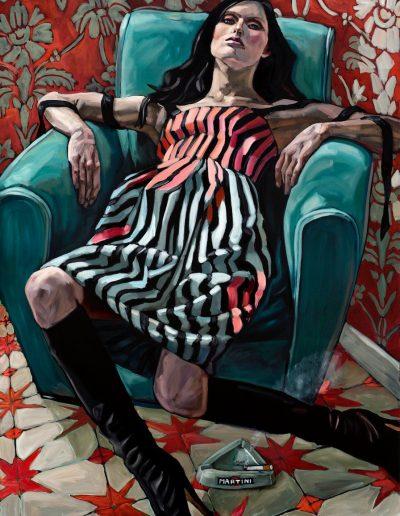 Armchair and Stripes (2017) Oil on Canvas