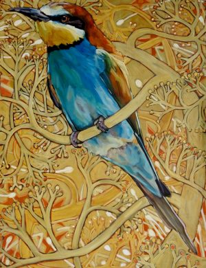 Lockdown Bee Eater II -Oil and Canvas-9/9/2020