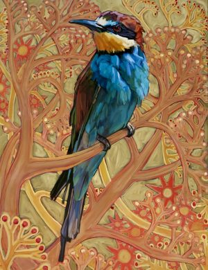 Lockdown Bee Eater I -Oil and canvas-24/7/2020