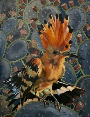 Lockdown Hoopoe I -Oil and Canvas -23/2/2020