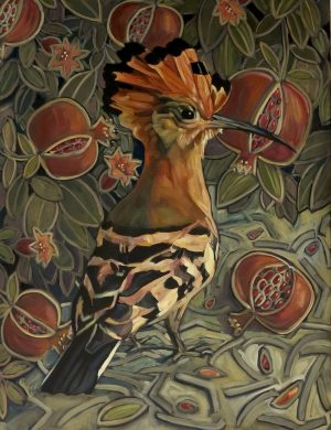 Lockdown Hoopoe III-Oil and Canvas-15/4/2020