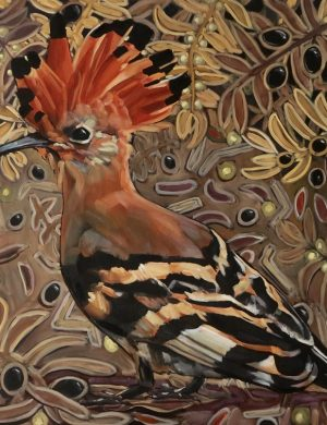 Lockdown Hoopoe IV-Oil and Canvas-28/4/2020